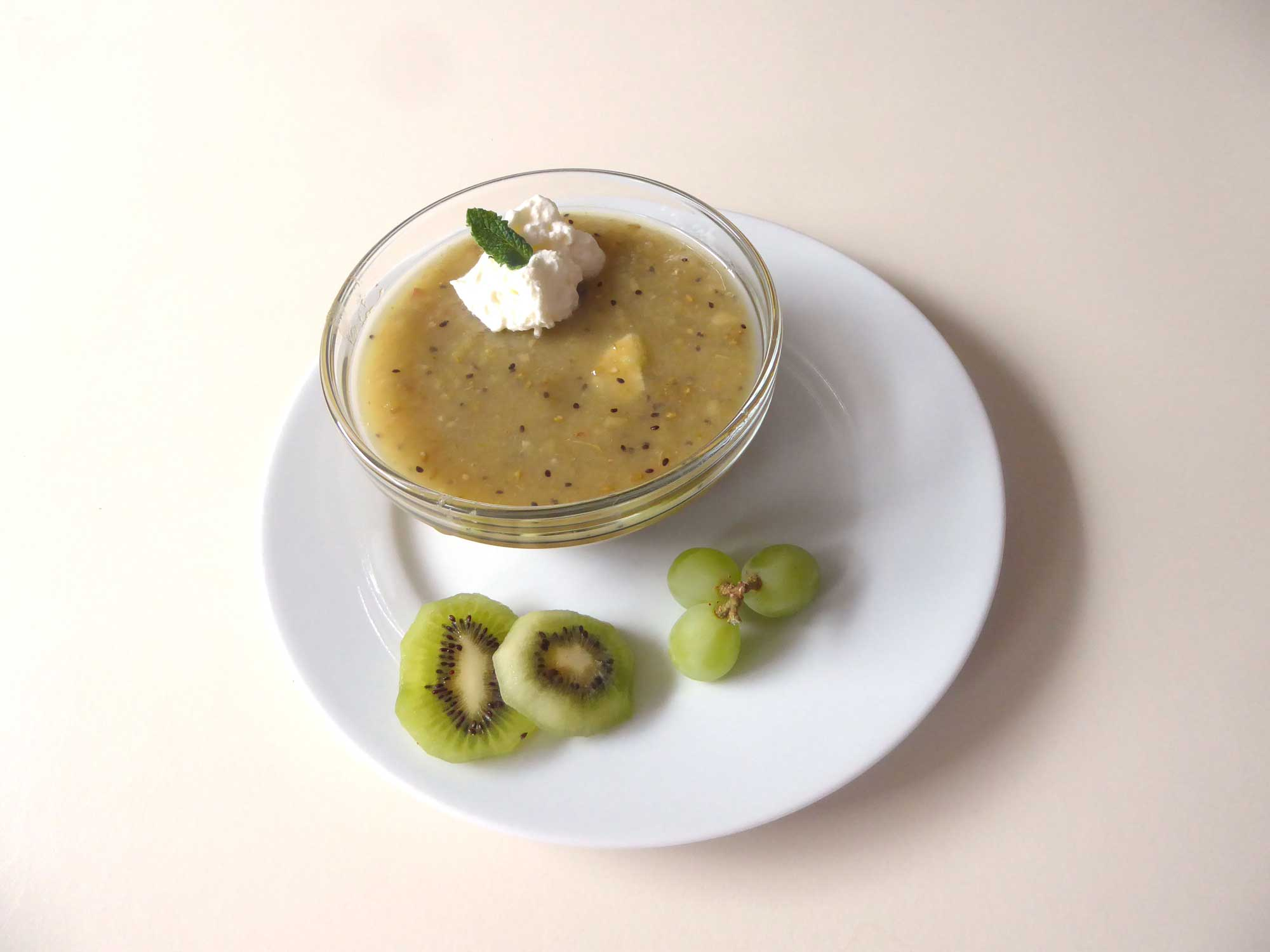 Dessert mit Kiwi